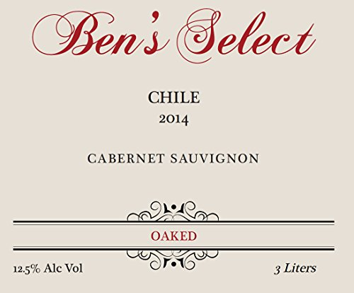 "2014 Ben Ish Winery ""Ben'S Select"" Chilean Cabernet Sauvignon With Personalized Label 3 L"