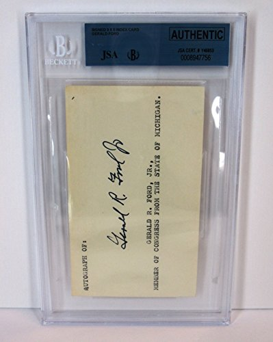 GERALD FORD Early Signed Autograph Congress Michigan US President JSA Beckett COA Encapsulated (Gerald Ford Autograph compare prices)