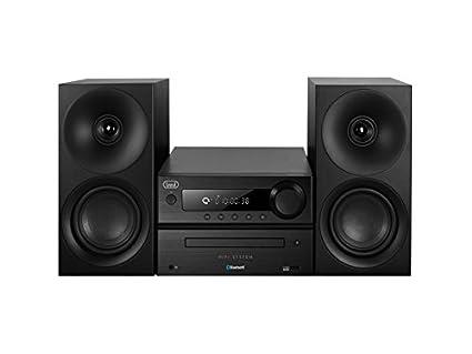 Trevi HCX 1080 BT Chaîne Hi-Fi stéréo avec lecteurs CD/CDMP3, Tuner PLL FM avec lecteur MP3 USB, NFC et Bluetooth: noir