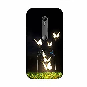 Back cover for Moto X Play Butterfly Jar