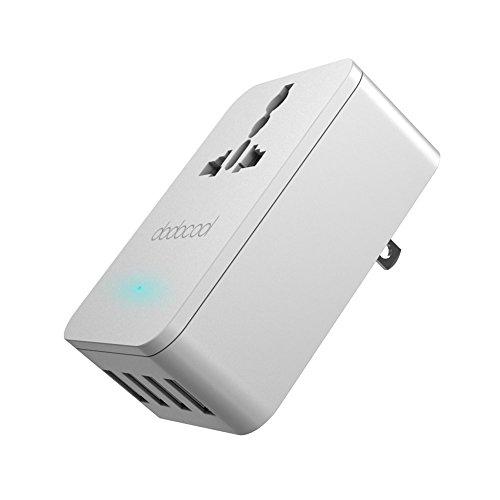 dodocool USB充電器 壁式 ACアダプタ ユニバーサル ポータブル 旅行充電器 AC コンセント米国 プラグ