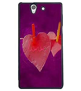 PRINTSWAG LOVE HEARTS Designer Back Cover Case for SONY XPERIA Z