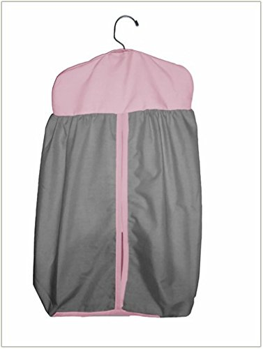 Baby Doll Reversible Diaper Stacker, Grey/Pink
