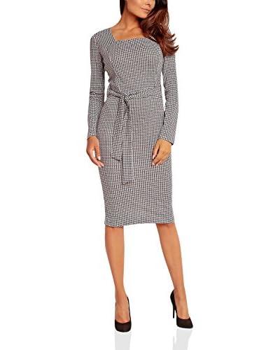 KAREN Kleid schwarz/weiß XL