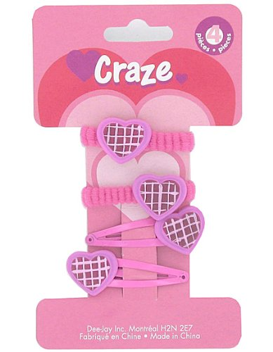 4Pc Heart Hair Ties (Case of 144 )