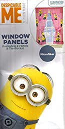 Despicable Me Pink Window Panels Drapes Curtains