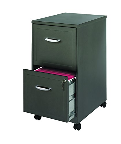 Deep Kitchen Cabinet Solutions: Space Solutions Mobile 2-Drawer File Cabinet, 18-Inch Deep