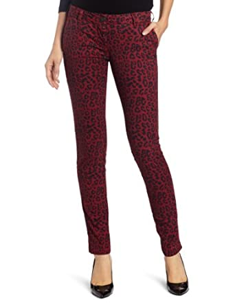 Maison Scotch Women's Worked-out Chinos, Magenta/Black, 27x32