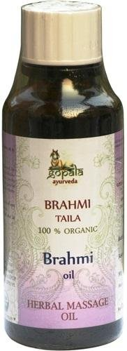 Brahmi Oil - 100% Usda Certified Organic - Ayurvedic Head Massage Oil - 150Ml