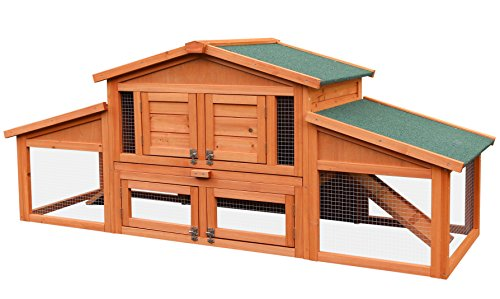 Merax-70-Inch-Wooden-Rabbit-Hutch-Outdoor-Pet-House-Cage-for-Small-Animals-with-2-Run-Play-Area