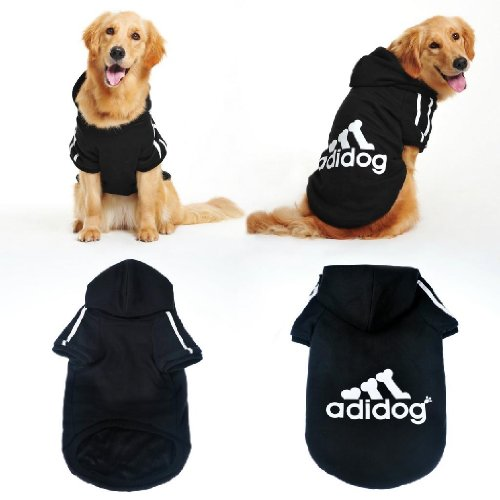 Artikelbild: Adidog, Hundekleidung,für kleine und große Hund (S bis 8XL)Farbe : Schwarz / Rot (5XL, Schwarz)