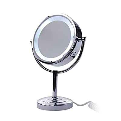 Cheapest XCSOURCE® 8.5 inch Desktop Tabletop Swivel Double-Sided 5W Lighted Makeup Mirror with 10x Magnification and 15 LED Light MT115 from Xcsource - Free Shipping Available