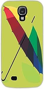 Snoogg Monsoon Umbrella 2467 Case Cover For Samsung Galaxy S4