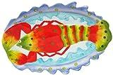 "Sculpted Ceramic Marine Life Lobster Platter, 15""Lx10""W"