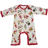 Powell Craft 100% Cotton Girls at Play Jumpsuit / Babygrow Size 0-6m