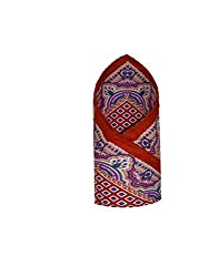 Leonardi Men's Pocket Square (LEO-PS18_Red_Free Size)