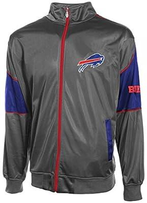 Buffalo Bills Mens Full Zip Tricot Charcoal Track Jacket Big & Tall Sizes