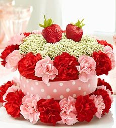 Flowers by 1800Flowers - Fresh Flower Cake Strawberry Shortcake