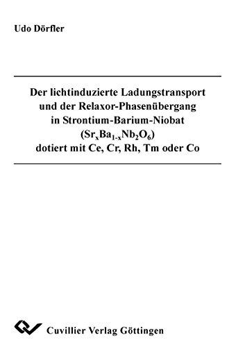 Der lichtinduzierte Ladungstransport und der Relaxor-Phasenübergang in Strontium-Barium-Niobat (Srx Ba1-x Nb2 O6) dotiert mit Ce, Cr, Rh, Tm oder Co