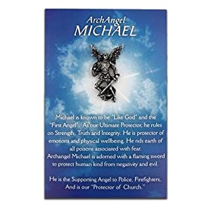 Michael The Archangel Pin and Card