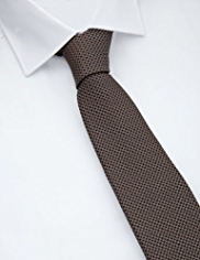 Collezione Made in Italy Pure Silk Textured Square Tie