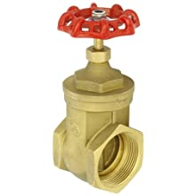 "Dixon BGV250 Brass Gate Valve, 2-1/2"" NPT Female"