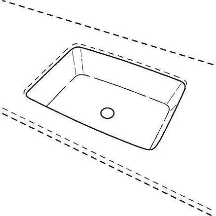 RENOVA N. 1piano lavabo da incasso bianco con Kera tect