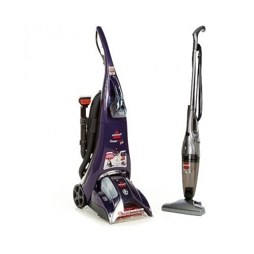 Bissell Proheat Pet Advanced Upright Deep Carpet & Upholstery Cleaner. Tough On Dirt, Stains & Odors. Bonus 3 In 1 Bissell Stick Vacuum Included.