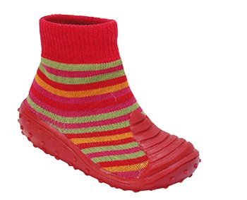 Baby Shoe Sock - Stripey Red, UK 3 Child (991195/4.5)