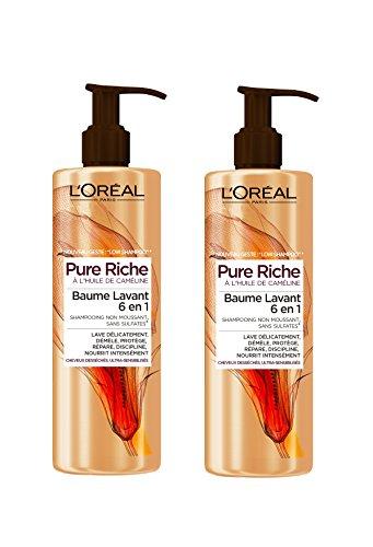 loreal-paris-pure-riche-low-shampoo-baume-lavant-cheveux-tres-secs-400-ml-lot-de-2
