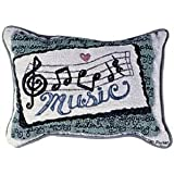 Music Notes Decorative Tapestry Toss Pillow