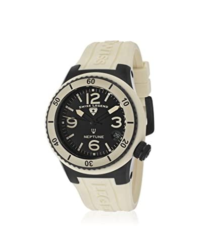 Swiss Legend Women's 11840P-BB-01-BGE Neptune Black/Beige Silicone Watch