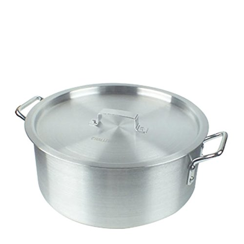 Challenger BZR15 Brazier with Cover, 15-Quart, Silver