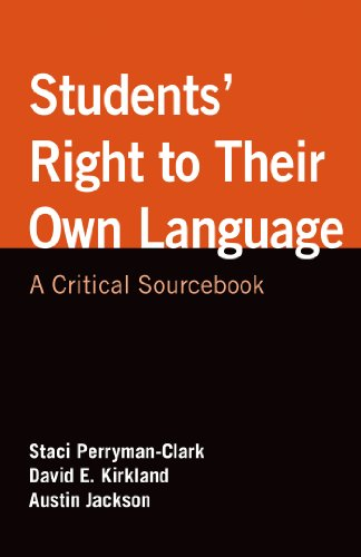 a students right to their own Perryman-clarke, s  kirkland, david  jackson, a/ students' rights to their own language : a critical sourcebook new york : bedford st martins, 2014 @book{88d367048e074a74ab6a3adad4b5acff.