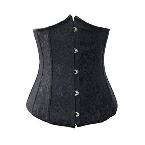 Petto corsetto nero sotto con G-string, vita 34,36, 38,40, 42,44, 46,48,50 ne...