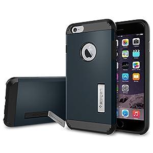 iPhone 6 Plus Case, Spigen Tough Armor Case for iPhone 6 Plus (5.5-Inch)-Metal Slate (SGP10915)