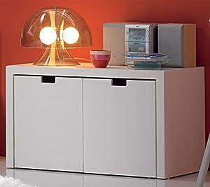 Venta-Muebles - Cajonera blanca 2 cajones mod. barcelona marca venta-muebles