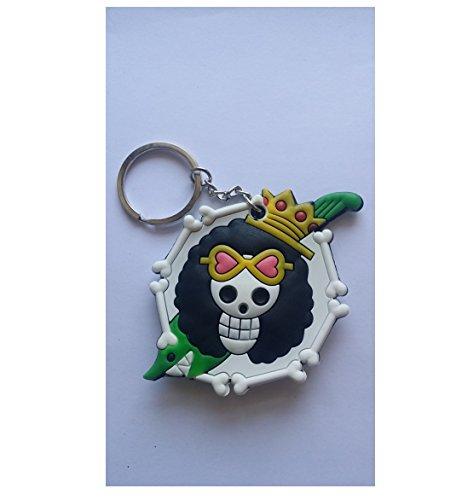 Nido del Bimbo 1207 - [LB] Portachiavi One Piece in Gomma Doppia Faccia - Di qualità - Resistente - Gadget Must Have! (Logo Brook)