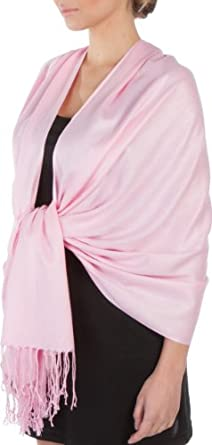 """78"""" x 28"""" Silky Soft Solid Pashmina Shawl / Wrap / Stole - Baby Pink"""