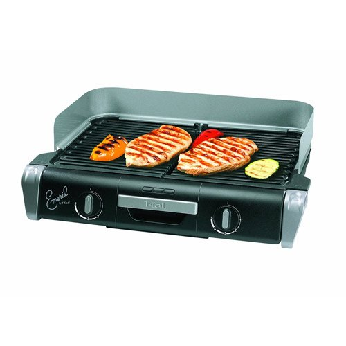 Emeril By T-Fal Tg8000002 Xl Griller With Two Independent Temperature Controls, Silver