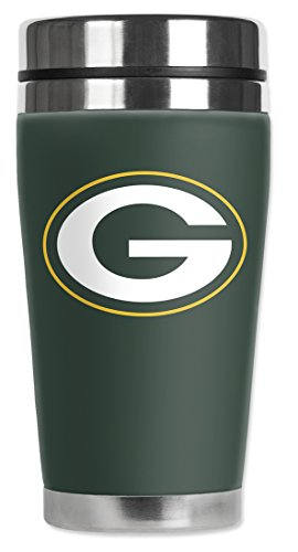 Mugzie® Brand 16-Ounce Travel Mug With Insulated Wetsuit Cover - Green Bay Packers