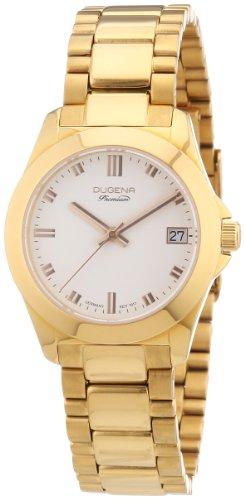 Dugena Dugena Premium 7000129 - Reloj analógico de cuarzo para mujer, correa de acero inoxidable color dorado