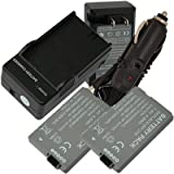 2 Battery+Charger for Canon BP-208 DC100 DC210 DC230