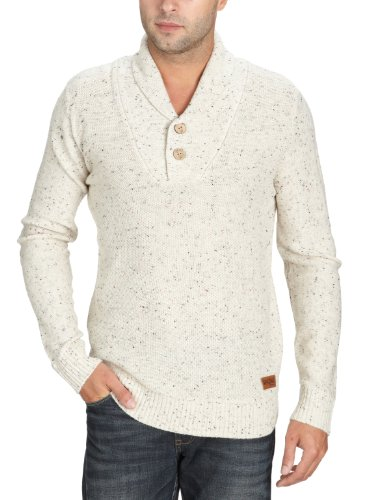 Jack and Jones Zion Knit Men's Jumper Bone White/Blue X-Large