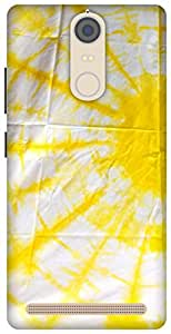 The Racoon Grip yellow rays hard plastic printed back case/cover for Lenovo K5 Note