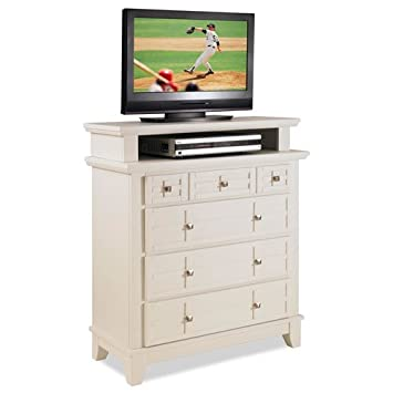 Home Styles 5182-041 Arts and Crafts TV Media Chest, White