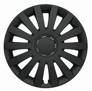 Albrecht 09694 Wind Matte Black 14″ Wheel Cover, (Set of 4)