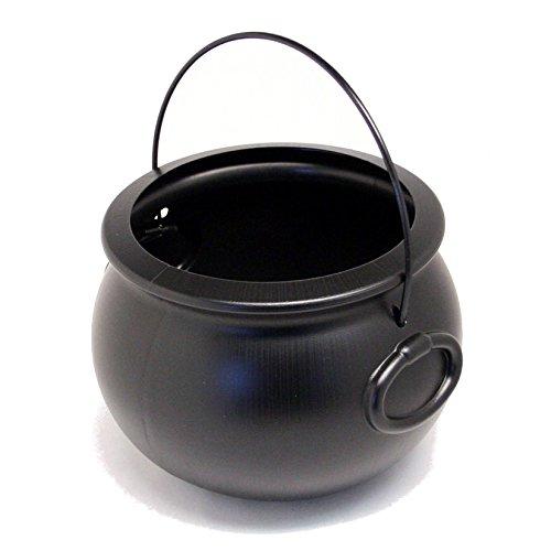 Cauldron 8 inch Black Plastic Pkg/1