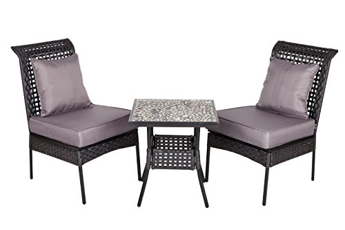 Patio Sense Havasu 3-Piece All Weather Wicker Bistro Set image