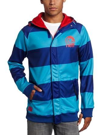 neff Men's Stripe Hood, Blue, XX-Large